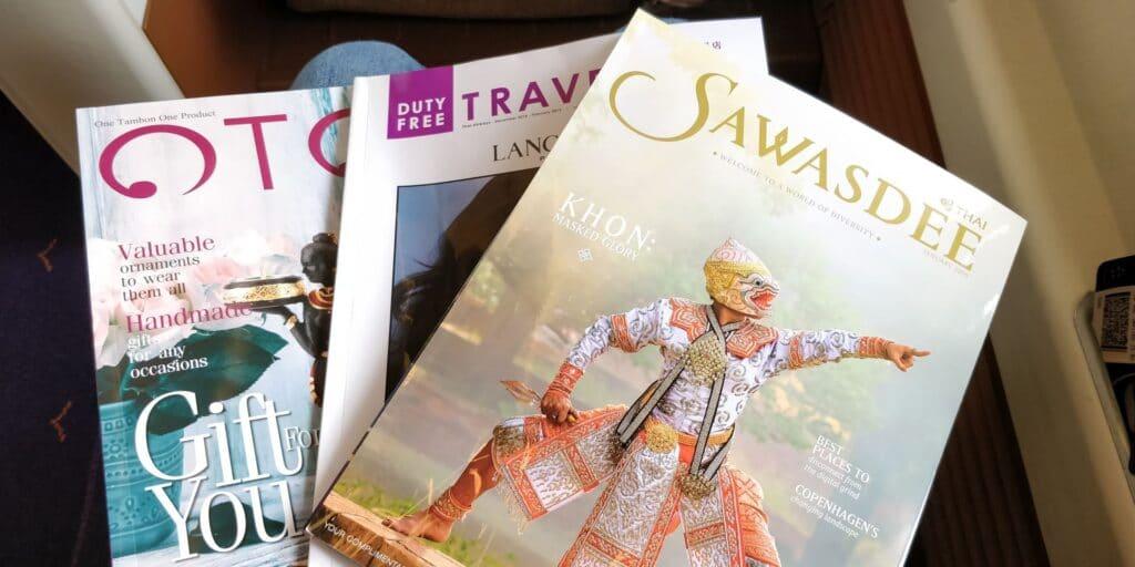 Thai Airways First Class Airbus A380 Magazine