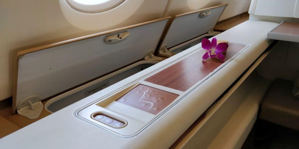 Thai Airways First Class Airbus A380 Sitz 10