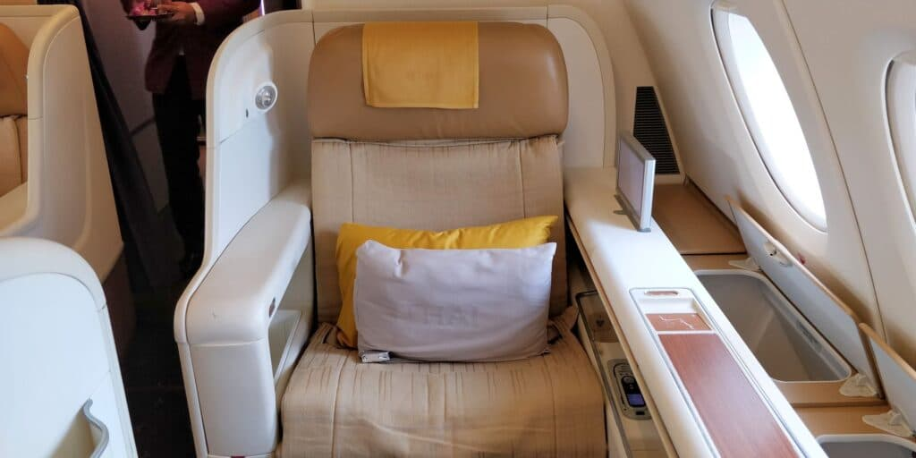 Thai Airways First Class Airbus A380 Sitz 4