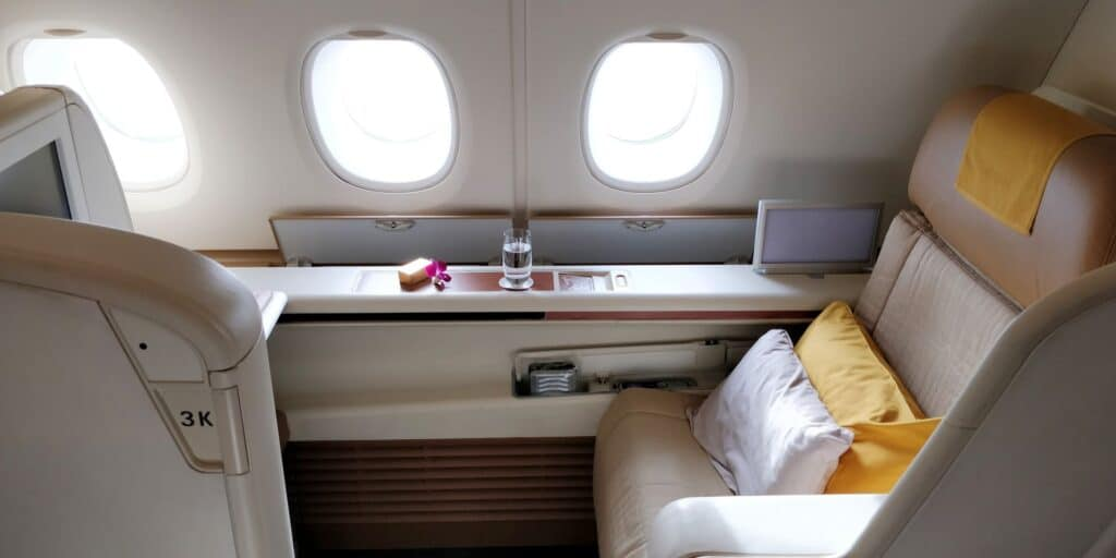 Thai Airways First Class Airbus A380 Sitz 8