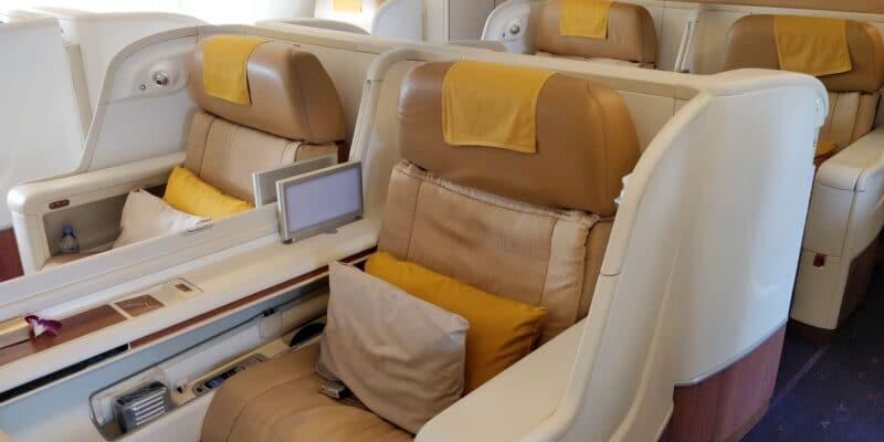 Thai Airways First Class Airbus A380 Sitz