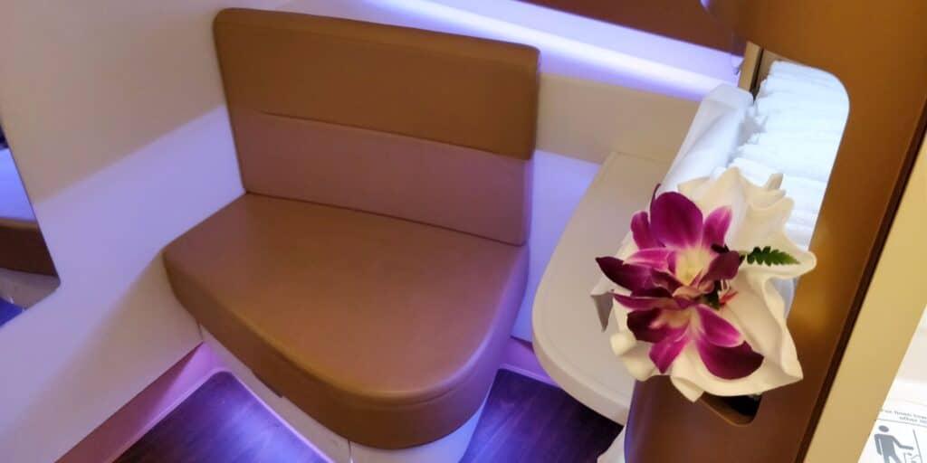 Thai Airways First Class Airbus A380 Toilette