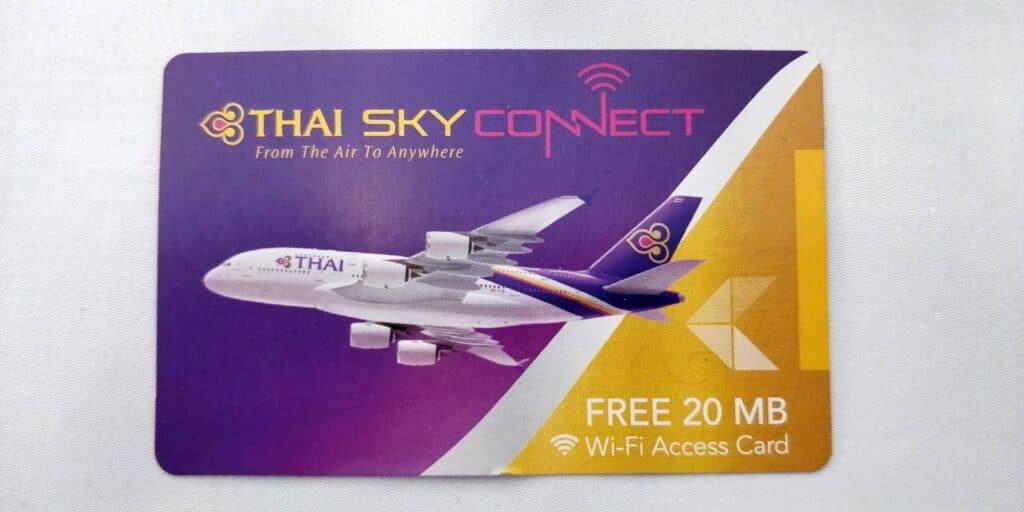 Thai Airways First Class Airbus A380 WLAN Voucher 2