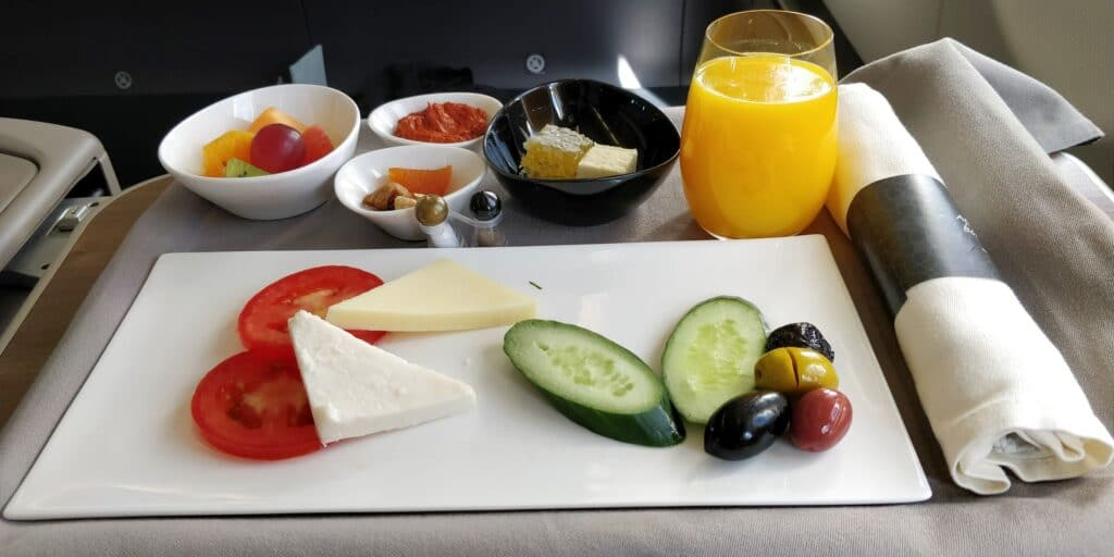 Turkish Airlines Business Class Istanbul Berlin Catering