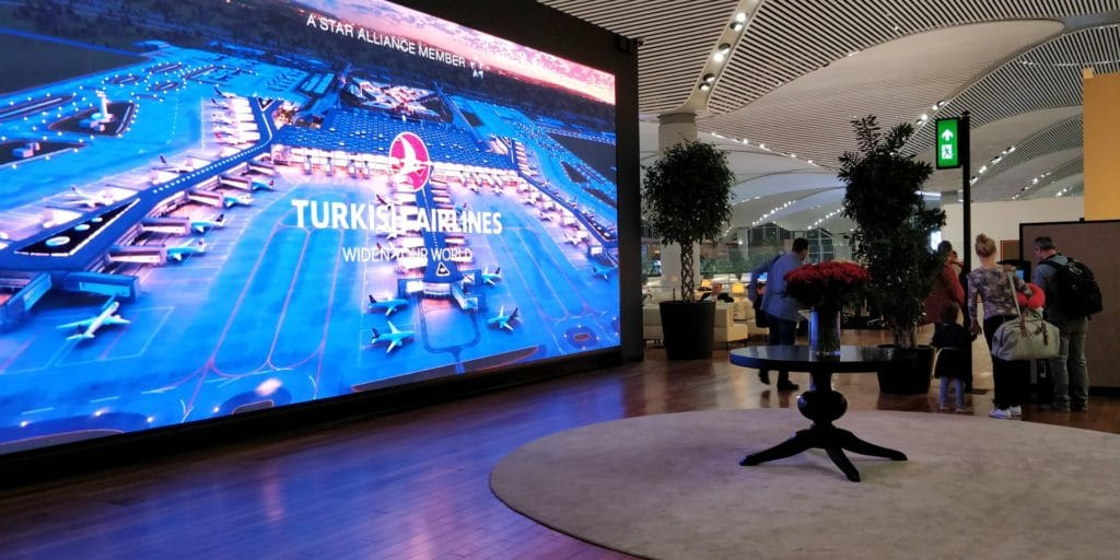 Turkish Airlines Lounge Istanbul Miles Smiles Eingang