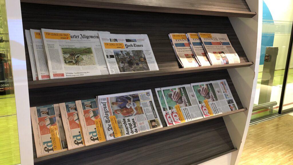 Aspire Lounge Amsterdam 26 Zeitschriften