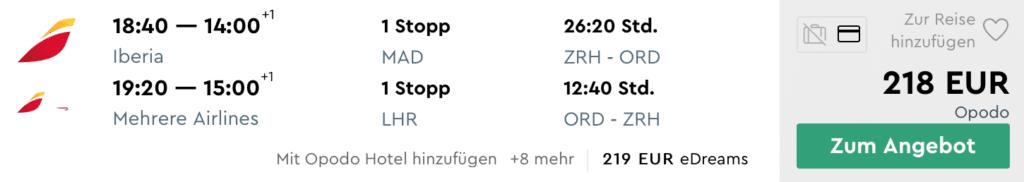 ZRH ORD