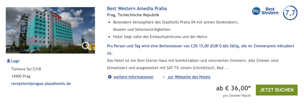Best Western Miles and More Aktion