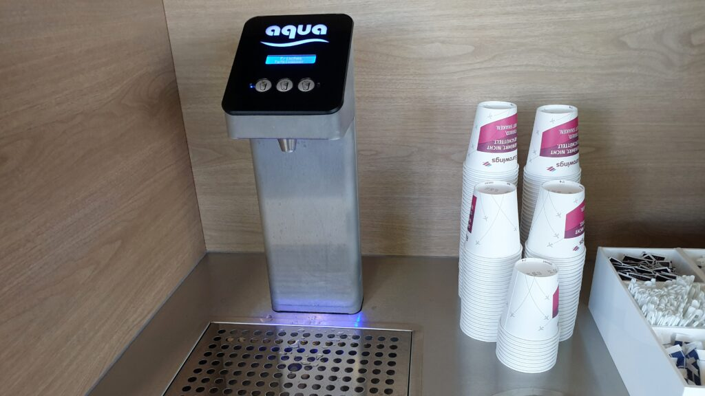 Eurowings Lounge München Wasser