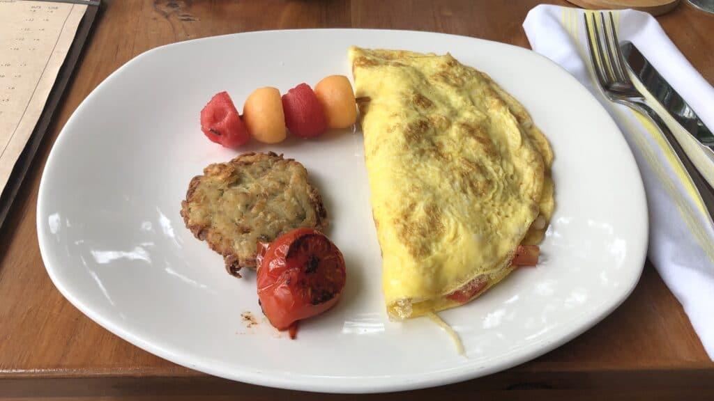 Ka'ana Resort San Ignacio Belize Frühstück Omelette