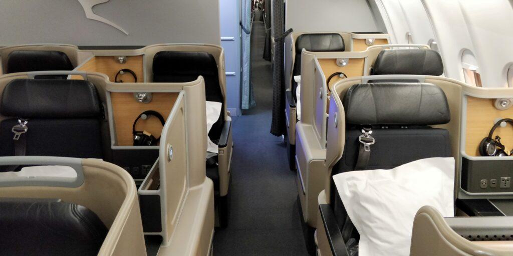 Qantas Business Class Airbus A330 Kabine