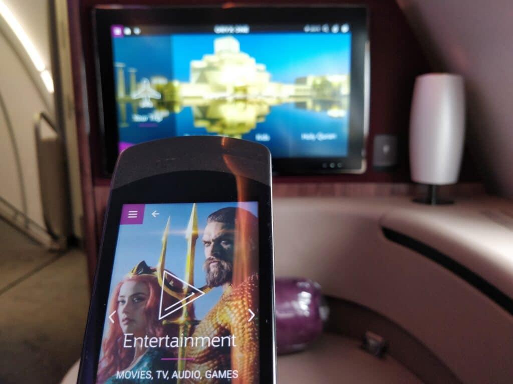 Qatar Airways First Class Entertainment