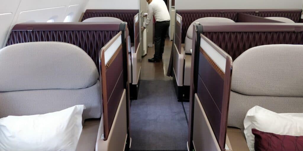Qatar Airways First Class Kabine