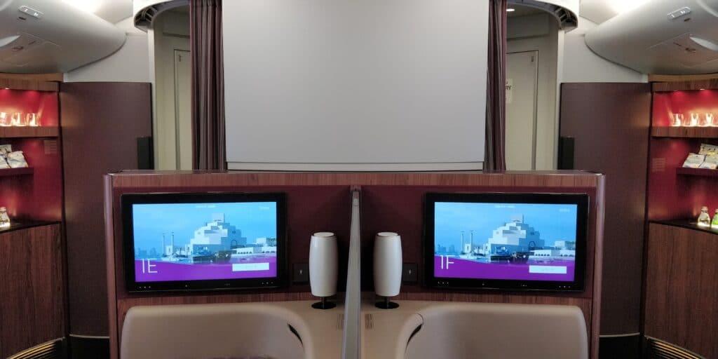 Qatar Airways First Class Kabine 2