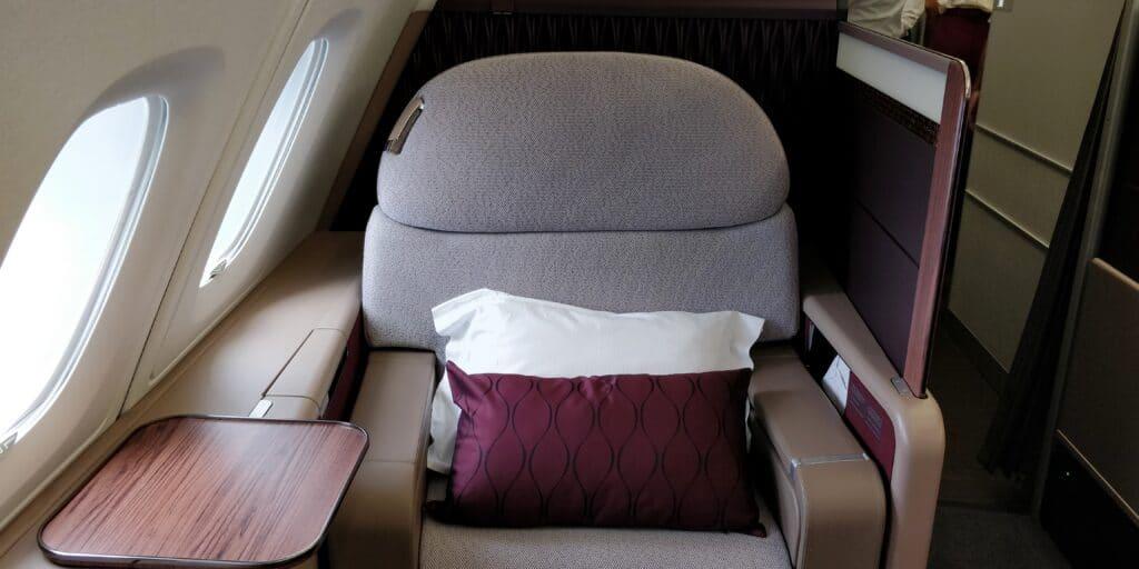 Qatar Airways First Class Sitz