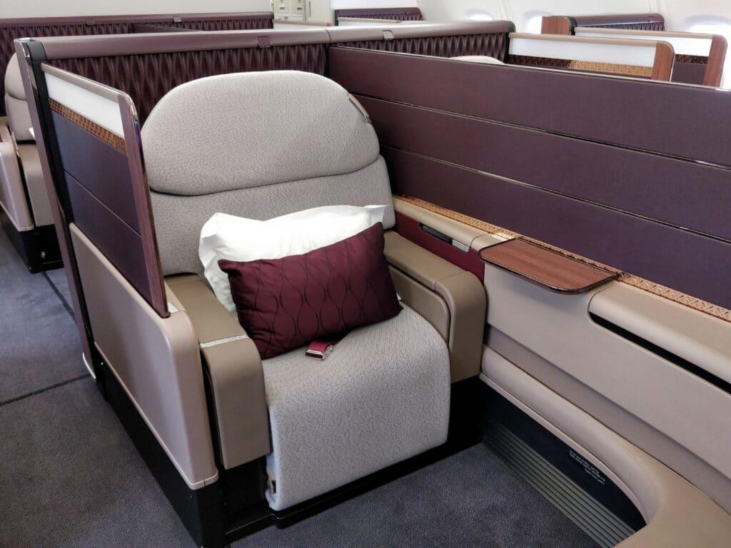 Qatar Airways First Class Sitz 2