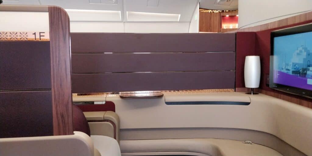 Qatar Airways First Class Sitz 4