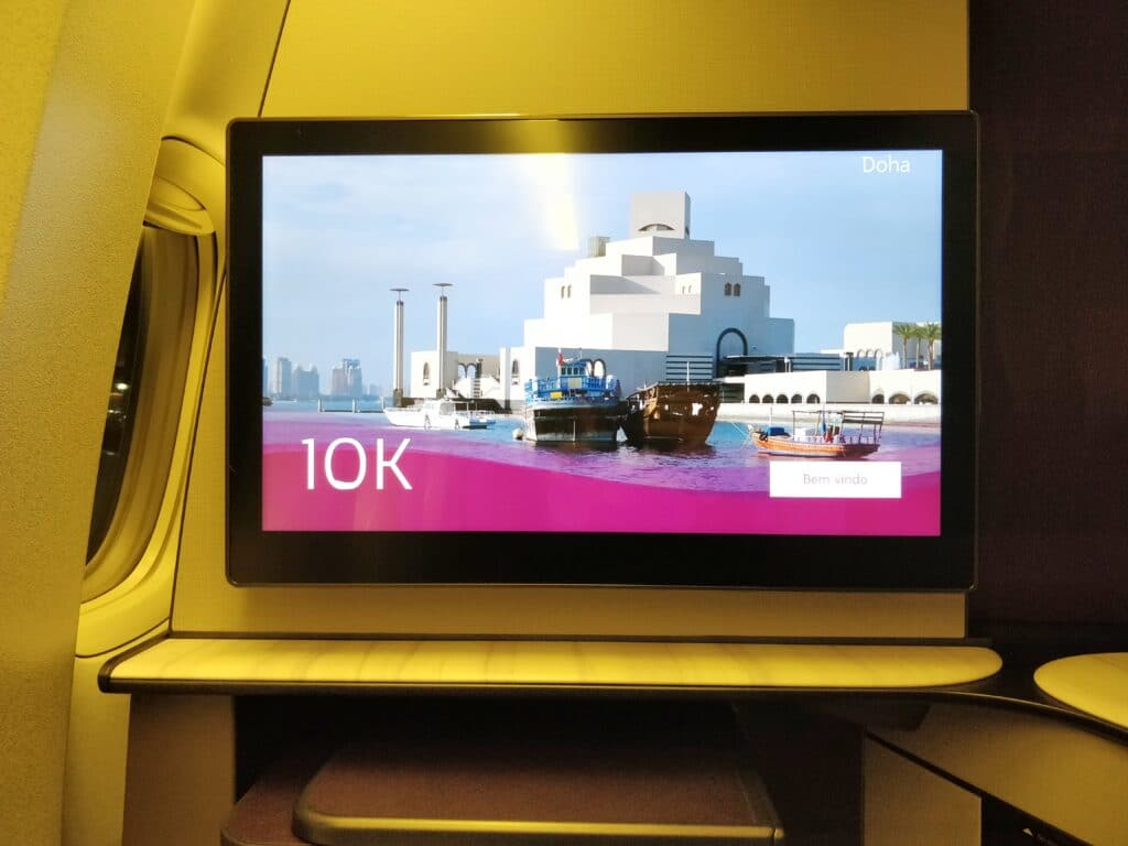 Qatar Airways QSuite Business Class Entertainment