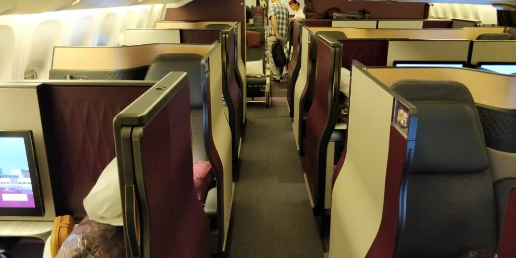 Qatar Airways QSuite Business Class Kabine