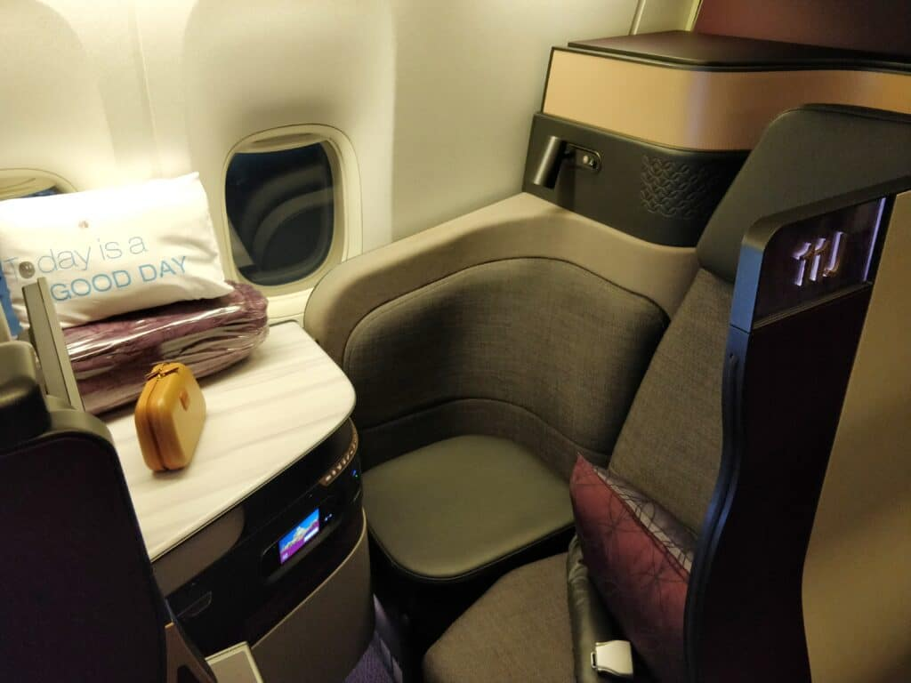 Qatar Airways QSuite Business Class Sitz 3