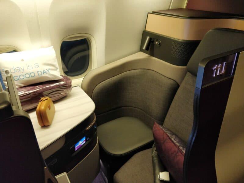Qatar Airways QSuite Business Class Sitz 3