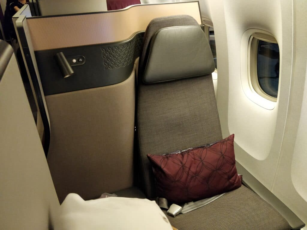 Qatar Airways QSuite Business Class Sitz 4