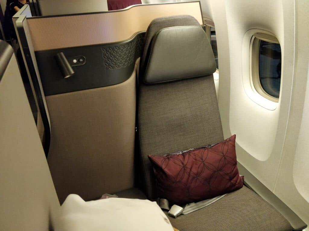 Qatar Airways QSuite Business Class Sitz 4
