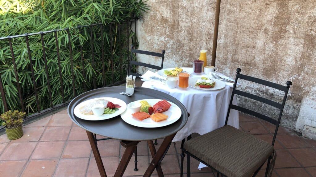 El Convento Boutique Hotel Antigua Guatemala Frühstück Außen