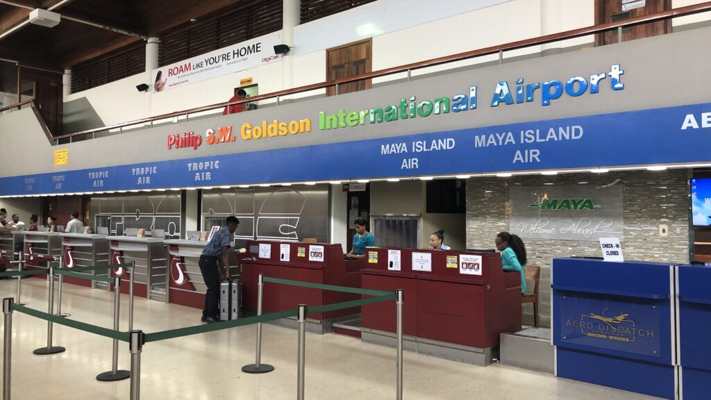 Maya Island Air Check In