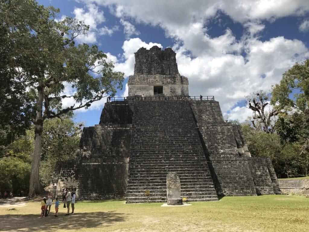 Tikal Tempel 1 Von Unten