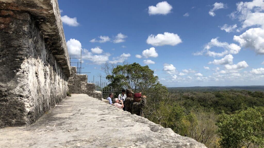 Tikal Tempel 4 Ausblick