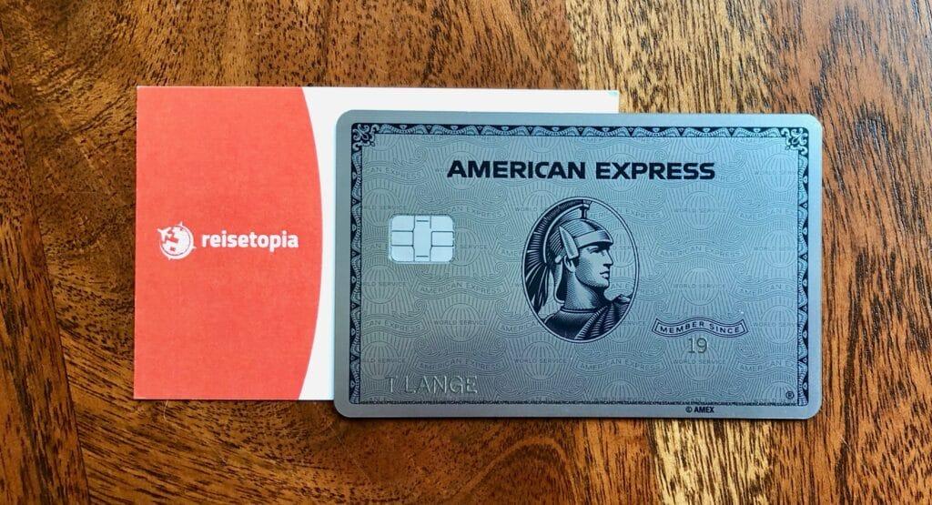 Amex Platinum Metal Reisetopia Visitenkarte