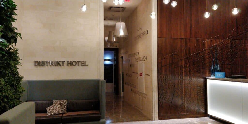 Distrikt Hotel New York Lobby