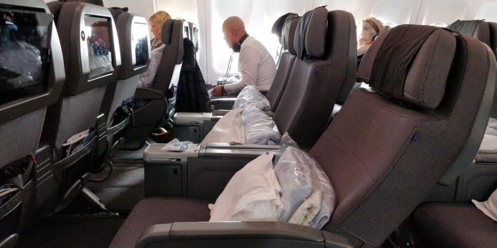 SAS Premium Economy Class Airbus A330 Sitz 12