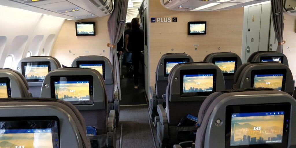 SAS Premium Economy Class Airbus A330 Sitz 3