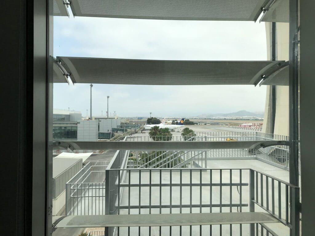 Sala VIP Lounge Malaga Ausblick