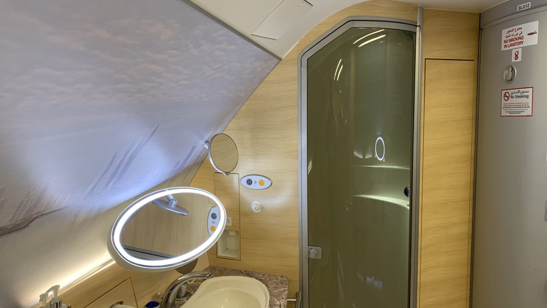 Emirates First Class Airbus A380 Shower Spa 2