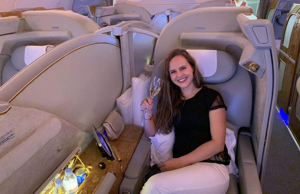 Marieke Emirates First Class