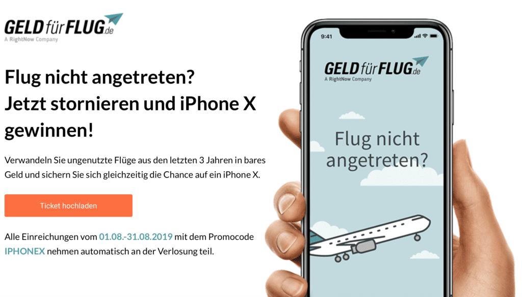 Geld-für-Flug Promo