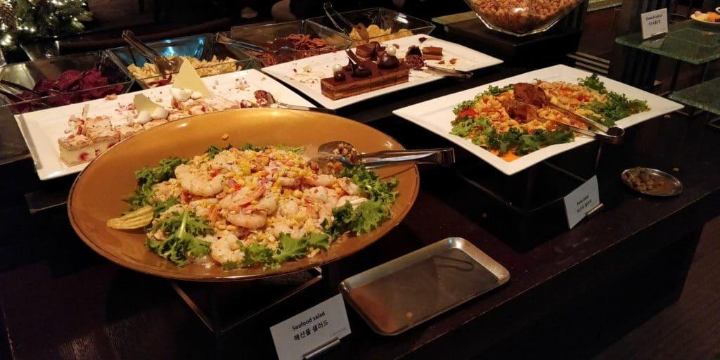 Conrad Seoul Executive Lounge Abendessen 2