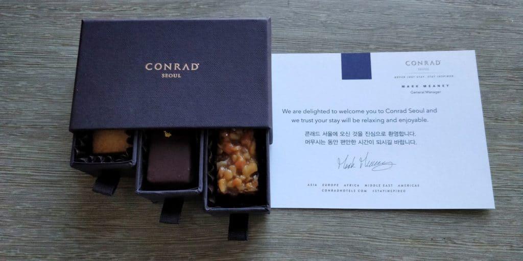 Conrad Seoul Welcome Gift