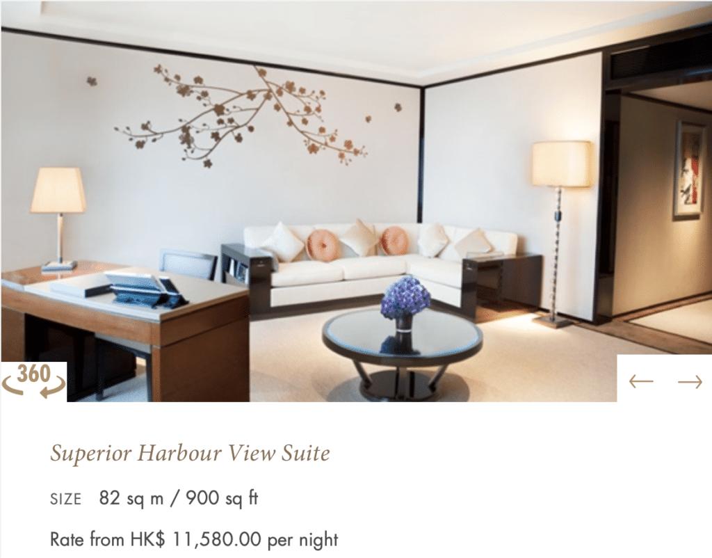 Peninsula Hong Kong Superior Habour View Suite