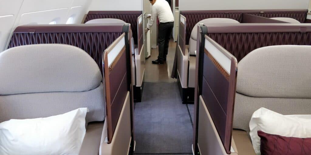 Qatar Airways First Class Airbus A380 Kabine