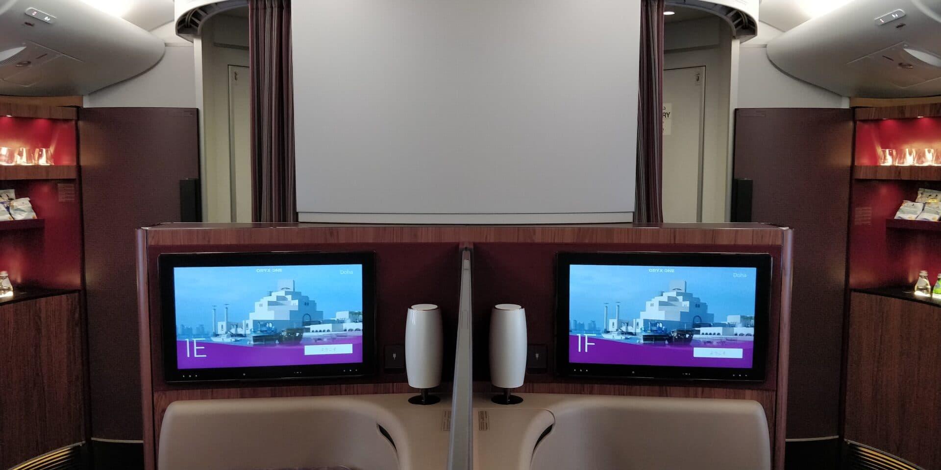 Qatar Airways First Class Airbus A380 Kabine 3