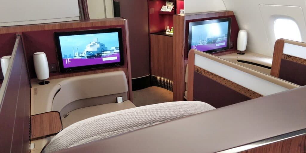 Qatar Airways First Class Airbus A380 Kabine 4