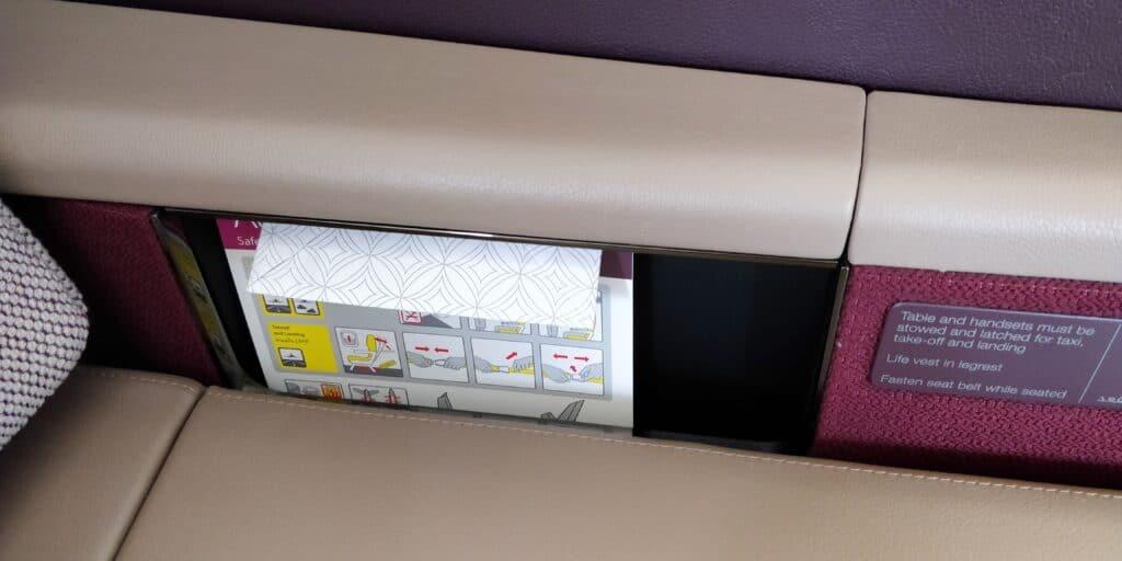 Qatar Airways First Class Airbus A380 Sitz 12