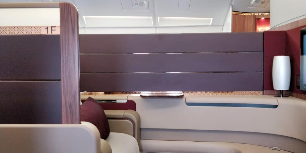 Qatar Airways First Class Airbus A380 Sitz 13