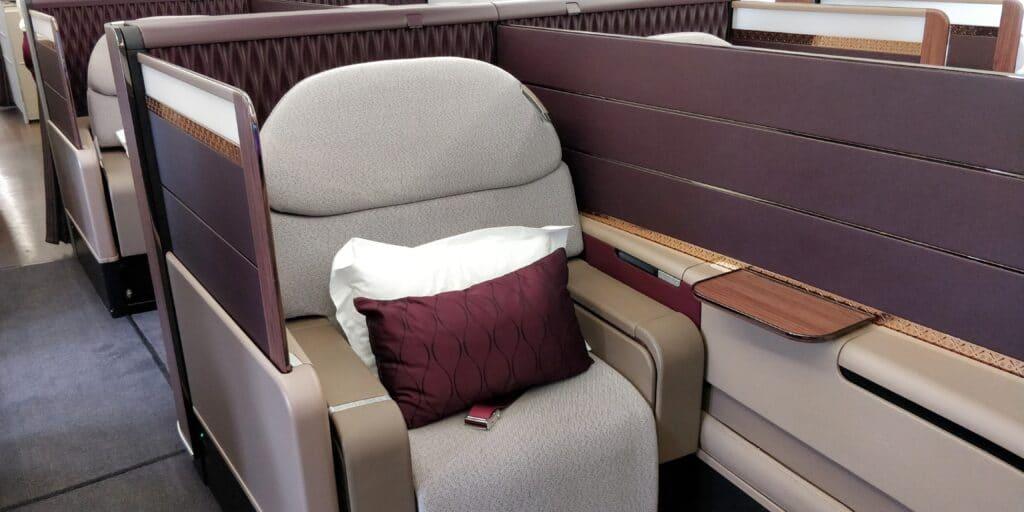 Qatar Airways First Class Airbus A380 Sitz 3