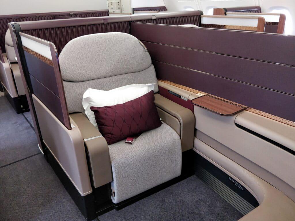 Qatar Airways First Class Airbus A380 Sitz 4