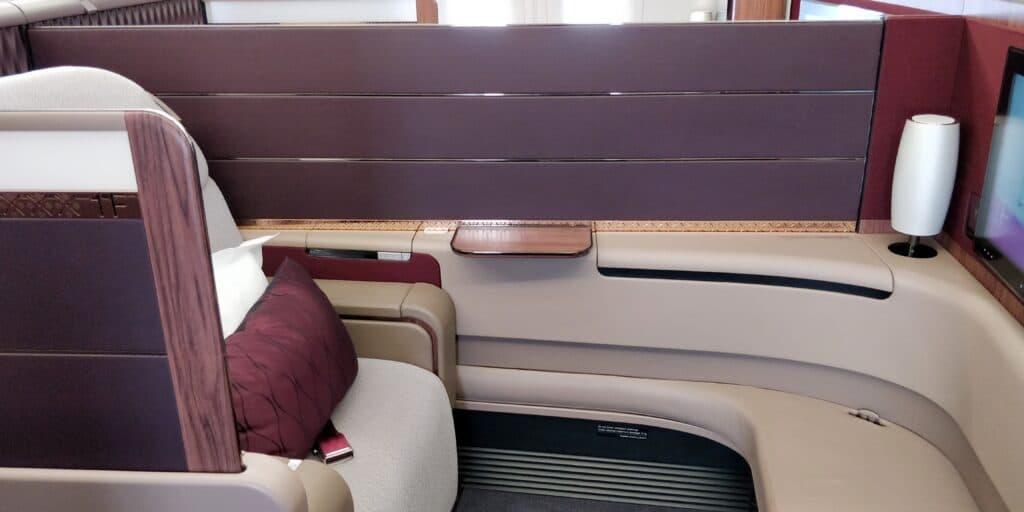 Qatar Airways First Class Airbus A380 Sitz 6